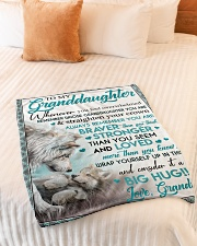 """BIG HUG - LOVELY MESSAGE GIFT FOR GRANDDAUGHTER Small Fleece Blanket - 30"""" x 40"""" aos-coral-fleece-blanket-30x40-lifestyle-front-01"""