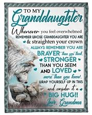 "BIG HUG - LOVELY MESSAGE GIFT FOR GRANDDAUGHTER Small Fleece Blanket - 30"" x 40"" front"