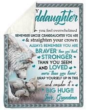 """BIG HUG - LOVELY MESSAGE GIFT FOR GRANDDAUGHTER Large Sherpa Fleece Blanket - 60"""" x 80"""" thumbnail"""