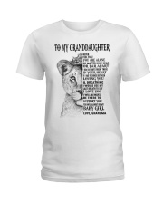 I LOVE YOU - LOVELY GIFT FOR GRANDDAUGHTER Ladies T-Shirt tile