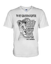 I LOVE YOU - LOVELY GIFT FOR GRANDDAUGHTER V-Neck T-Shirt tile
