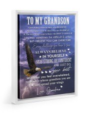 ALWAYS BELIEVE IN YOURSELF - GIFT FOR GRANDSON 11x14 White Floating Framed Canvas Prints thumbnail