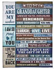 "GIFT OF LIFE - GRANDMA TO GRANDDAUGHTER Small Fleece Blanket - 30"" x 40"" front"