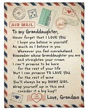 """LOVELY BLANKET FOR YOUR GRANDDAUGHTER FROM GRANDMA Small Fleece Blanket - 30"""" x 40"""" front"""
