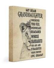 STRAIGHTEN YOUR CROWN - GRAMMY TO GRANDDAUGHTER 11x14 Gallery Wrapped Canvas Prints front