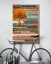 THE GIFT OF YOU - GREAT GIFT FOR GRANDSON 11x17 Poster lifestyle-poster-7