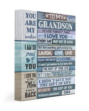 FOLLOW YOUR DREAMS - BEST GIFT FOR GRANDSON 11x14 Gallery Wrapped Canvas Prints front