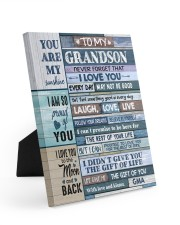 FOLLOW YOUR DREAMS - BEST GIFT FOR GRANDSON Easel-Back Gallery Wrapped Canvas tile