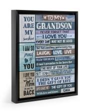 FOLLOW YOUR DREAMS - BEST GIFT FOR GRANDSON Floating Framed Canvas Prints Black tile
