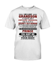 I AM A LUCKY GRANDSON Premium Fit Mens Tee tile