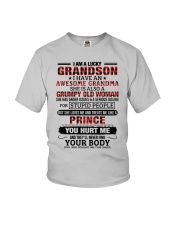 I AM A LUCKY GRANDSON Youth T-Shirt front