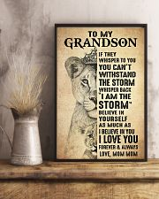 I LOVE YOU - BEST GIFT FOR GRANDSON 11x17 Poster lifestyle-poster-3