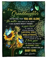 """I LOVE YOU - MEANINGFUL GIFT FOR GRANDDAUGHTER Small Fleece Blanket - 30"""" x 40"""" front"""