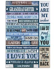 I LOVE YOU - AMAZING GIFT FOR GRANDDAUGHTER 11x17 Poster thumbnail