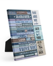I LOVE YOU - AMAZING GIFT FOR GRANDDAUGHTER 8x10 Easel-Back Gallery Wrapped Canvas thumbnail