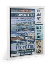 I LOVE YOU - AMAZING GIFT FOR GRANDDAUGHTER 11x14 White Floating Framed Canvas Prints thumbnail