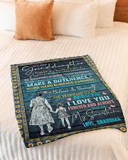"""I LOVE YOU - SPECIAL GIFT FOR GRANDDAUGHTER Small Fleece Blanket - 30"""" x 40"""" aos-coral-fleece-blanket-30x40-lifestyle-front-01"""