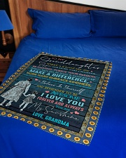 """I LOVE YOU - SPECIAL GIFT FOR GRANDDAUGHTER Small Fleece Blanket - 30"""" x 40"""" aos-coral-fleece-blanket-30x40-lifestyle-front-02"""