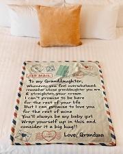 "MY BABY GIRL - GRANDMA TO GRANDDAUGHTER  Small Fleece Blanket - 30"" x 40"" aos-coral-fleece-blanket-30x40-lifestyle-front-04"