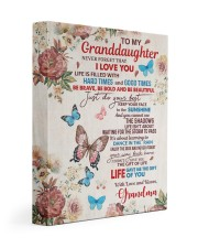 JUST DO YOUR BEST - TO GRANDDAUGHTER FROM GRANDMA 11x14 Gallery Wrapped Canvas Prints front
