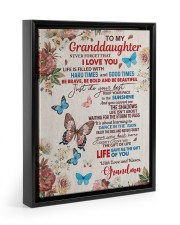 JUST DO YOUR BEST - TO GRANDDAUGHTER FROM GRANDMA 11x14 Black Floating Framed Canvas Prints thumbnail
