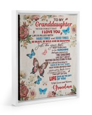 JUST DO YOUR BEST - TO GRANDDAUGHTER FROM GRANDMA 11x14 White Floating Framed Canvas Prints thumbnail
