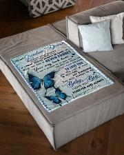 "MY SUNSHINE - GRANDMA TO GRANDSON DEACON Small Fleece Blanket - 30"" x 40"" aos-coral-fleece-blanket-30x40-lifestyle-front-03"