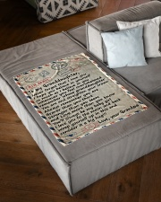 "BIG HUG - LOVELY GIFT FOR GRANDDAUGHTER Small Fleece Blanket - 30"" x 40"" aos-coral-fleece-blanket-30x40-lifestyle-front-03"