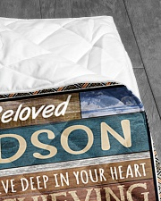 """YOU ARE OUR SUNSHINE - BEST GIFT FOR GRANDSON Quilt 50""""x60"""" - Throw aos-quilt-50x60-lifestyle-closeup-front-07"""