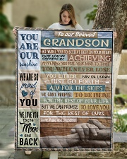 """YOU ARE OUR SUNSHINE - BEST GIFT FOR GRANDSON Quilt 50""""x60"""" - Throw aos-quilt-50x60-lifestyle-front-01"""