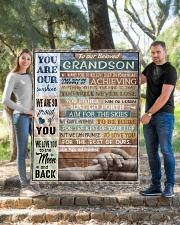 """YOU ARE OUR SUNSHINE - BEST GIFT FOR GRANDSON Quilt 50""""x60"""" - Throw aos-quilt-50x60-lifestyle-front-04"""