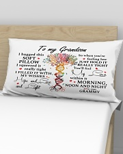 HOPE AND LOVE  - SPECIAL GIFT FOR GRANDSON Rectangular Pillowcase aos-pillow-rectangular-front-lifestyle-02