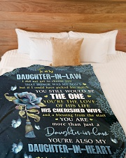 """YOU'RE THE LOVE - SPECIAL GIFT FOR DAUGHTER-IN-LAW Large Fleece Blanket - 60"""" x 80"""" aos-coral-fleece-blanket-60x80-lifestyle-front-02"""