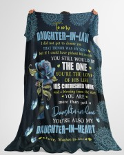 """YOU'RE THE LOVE - SPECIAL GIFT FOR DAUGHTER-IN-LAW Large Fleece Blanket - 60"""" x 80"""" aos-coral-fleece-blanket-60x80-lifestyle-front-10"""