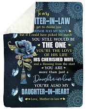 """YOU'RE THE LOVE - SPECIAL GIFT FOR DAUGHTER-IN-LAW Large Sherpa Fleece Blanket - 60"""" x 80"""" thumbnail"""