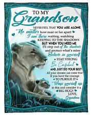 "BIG HUG - GRANDMA TO GRANDSON Small Fleece Blanket - 30"" x 40"" front"