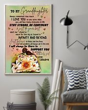 JUST DO YOUR BEST - GREAT GIFT FOR GRANDDAUGHTER 11x17 Poster lifestyle-poster-1
