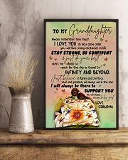 JUST DO YOUR BEST - GREAT GIFT FOR GRANDDAUGHTER 11x17 Poster lifestyle-poster-3