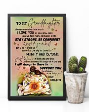 JUST DO YOUR BEST - GREAT GIFT FOR GRANDDAUGHTER 11x17 Poster lifestyle-poster-8