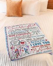 """MY SUNSHINE - AMAZING GIFT FOR GRANDDAUGHTER Small Fleece Blanket - 30"""" x 40"""" aos-coral-fleece-blanket-30x40-lifestyle-front-01"""