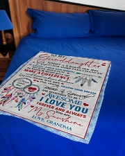 """MY SUNSHINE - AMAZING GIFT FOR GRANDDAUGHTER Small Fleece Blanket - 30"""" x 40"""" aos-coral-fleece-blanket-30x40-lifestyle-front-02"""