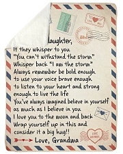 """I AM THE STORM GIFT FROM GRANDMA TO GRANDDAUGHTER Large Sherpa Fleece Blanket - 60"""" x 80"""" thumbnail"""