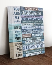 I LOVE YOU - LOVELY GIFT FOR GRANDDAUGHTER 11x14 Gallery Wrapped Canvas Prints aos-canvas-pgw-11x14-lifestyle-front-17