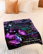"""I LOVE YOU - GRANDDAUGHTER GIFT WITH BUTTERFLY Small Fleece Blanket - 30"""" x 40"""" aos-coral-fleece-blanket-30x40-lifestyle-front-01"""