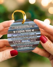 BELIEVE IN YOURSELF - BEST GIFT FOR GRANDDAUGHTER Circle ornament - single (porcelain) aos-circle-ornament-single-porcelain-lifestyles-08