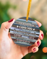 BELIEVE IN YOURSELF - BEST GIFT FOR GRANDDAUGHTER Circle ornament - single (porcelain) aos-circle-ornament-single-porcelain-lifestyles-09