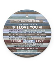BELIEVE IN YOURSELF - BEST GIFT FOR GRANDDAUGHTER Circle ornament - single (porcelain) front