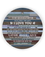 BELIEVE IN YOURSELF - BEST GIFT FOR GRANDDAUGHTER Circle Ornament (Wood tile