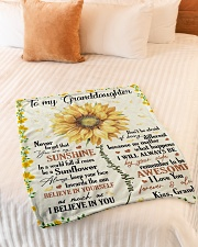 "YOU ARE MY SUNSHINE - GRANDMA TO GRANDDAUGHTER Small Fleece Blanket - 30"" x 40"" aos-coral-fleece-blanket-30x40-lifestyle-front-01"