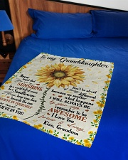 "YOU ARE MY SUNSHINE - GRANDMA TO GRANDDAUGHTER Small Fleece Blanket - 30"" x 40"" aos-coral-fleece-blanket-30x40-lifestyle-front-02"